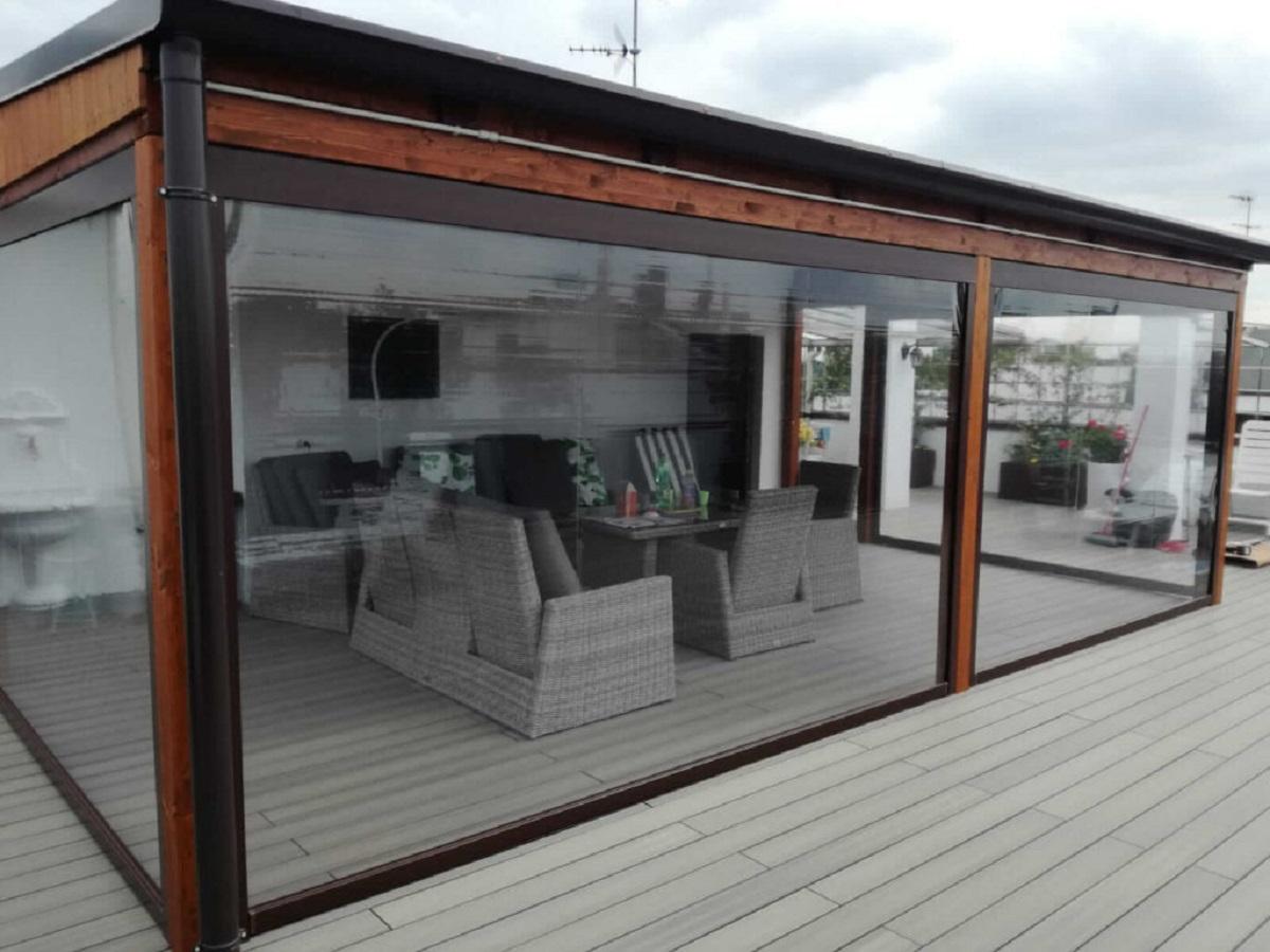 Terrazze Chiuse Con Vetrate chiusure verande e balconi viterbo | proietti srl